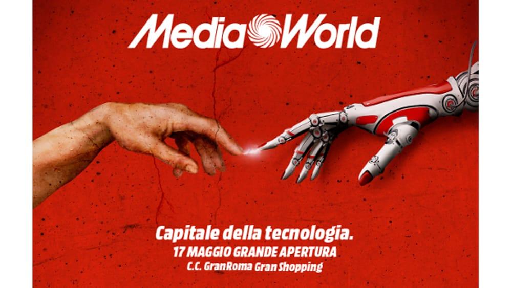 Mediaworld grande nuova apertura a roma dal 17 maggio for Nuova apertura grande arredo bari