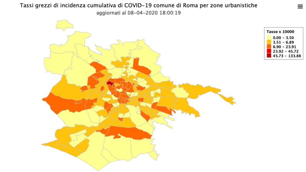 Cartina Roma Quartieri.Roma La Mappa Dei Contagi I Quartieri Piu Colpiti Dal Coronavirus