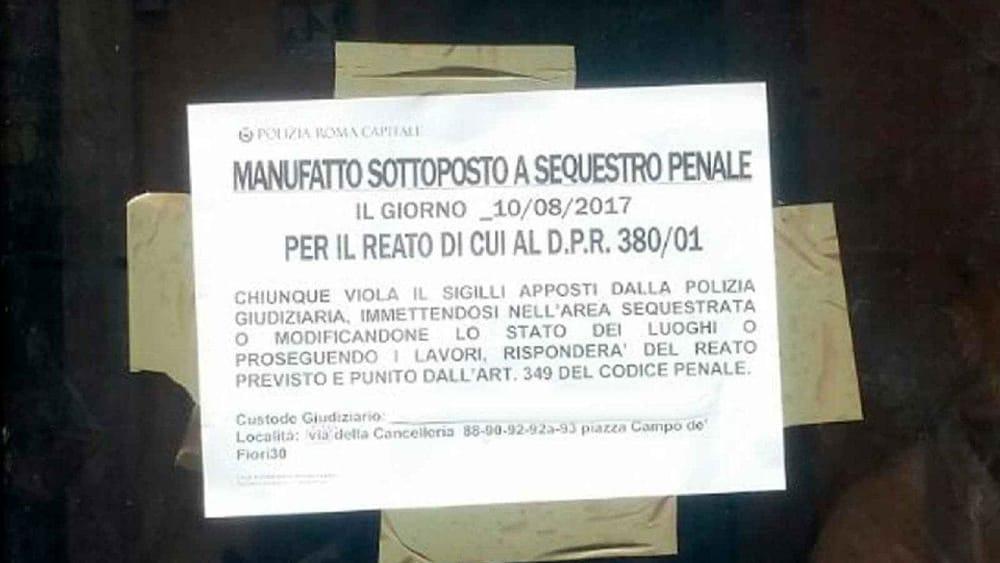 Campo de 39 fiori la polizia locale sequestra ristorante per abusi edilizi - Atto di donazione immobile ...