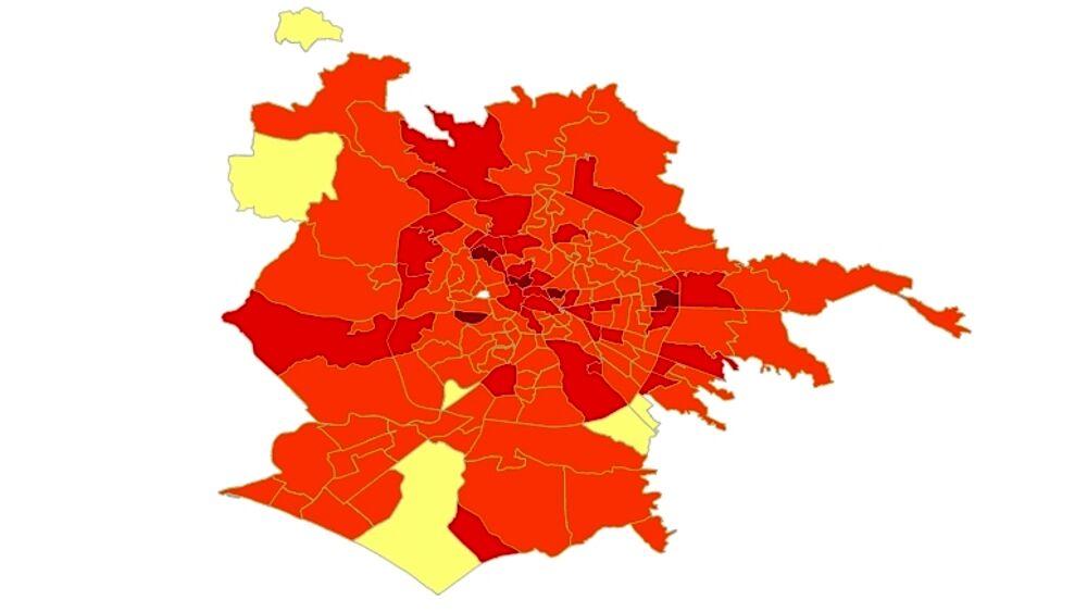 Cartina Roma Quartieri.Roma La Mappa Del Contagio Di Settembre I Quartieri Con Piu Casi Dopo L Apertura Delle Scuole
