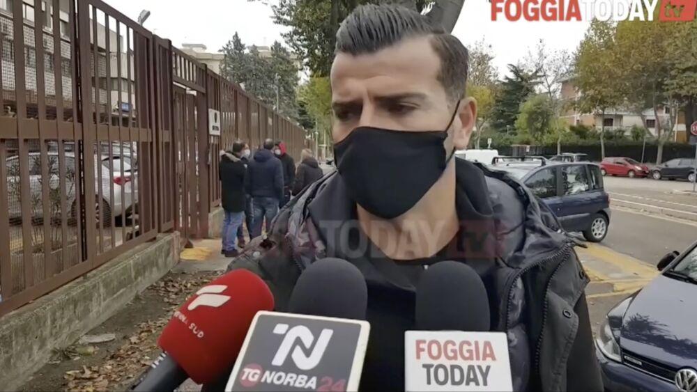 Federico Gentile, il giocatore del Foggia e l'incendio della porta di casa