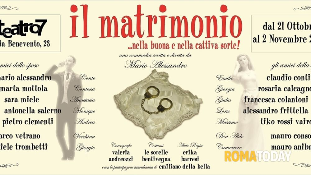 Il Matrimonio Romano Versione Latino : Dal ottobre al teatro sette torna in scena quot il matrimonio