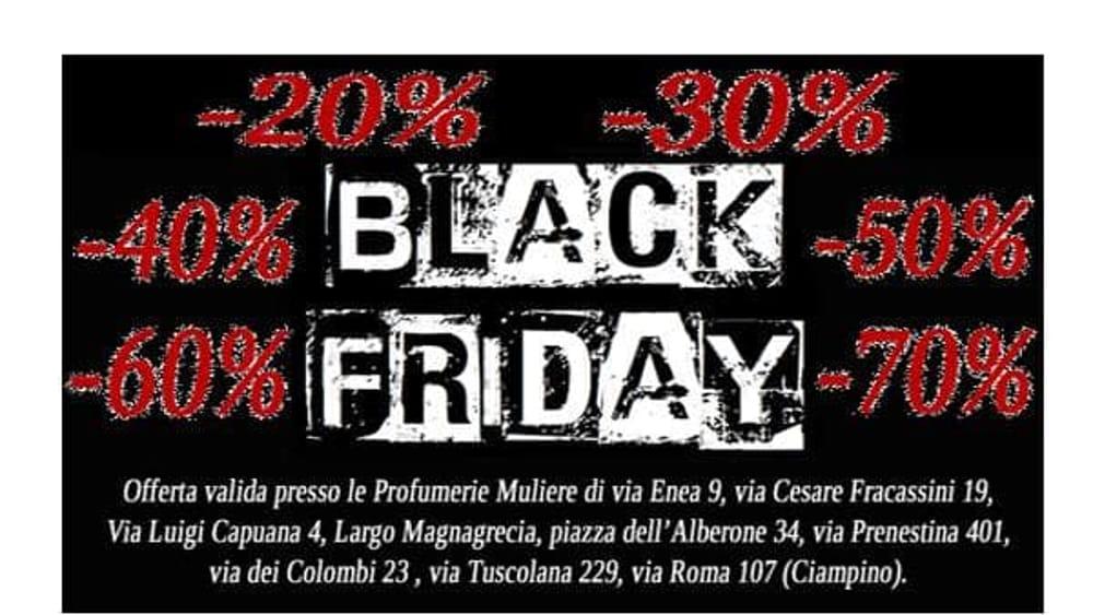 Black friday alle profumerie muliere di roma - Black friday porta di roma ...