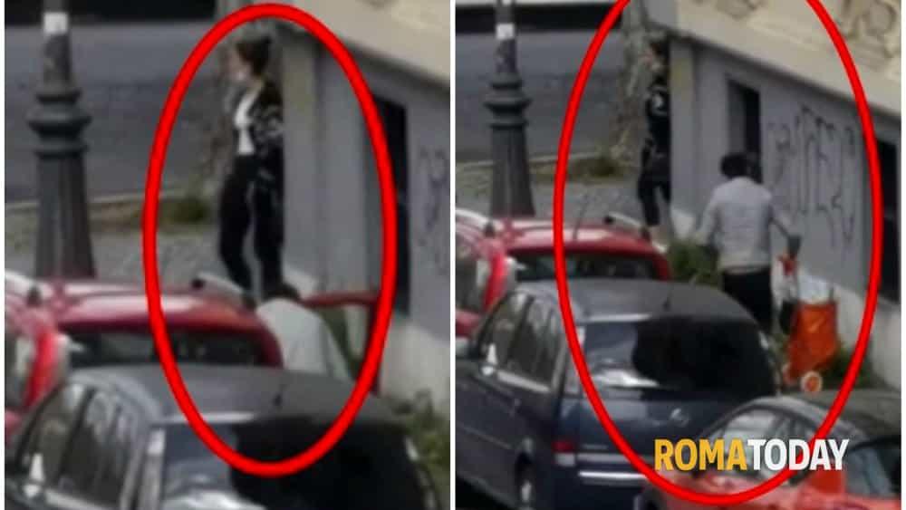 Trastevere, furto in diretta: ladri rubano spesa da un'auto in sosta. Residenti riprendono la scena